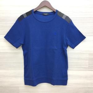 ブラックレーベル クレストブリッジ Tシャツ ショルダーチェック カットソー ネコポス可 Mサイズ ブルー BLACK LABEL CRESTBRIDGE トップス DM1421■ sunstep