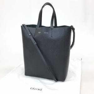 セリーヌ CABAS SMALL VERTICAL 176183XBA 2way バッグ トート ショルダー レザー 袋付き ブラック CELINE 鞄 DF0984■|sunstep
