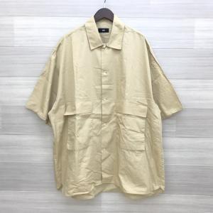 ハレ モンスタービッグシャツ 美品 オーバーサイズ 半袖 ワーク シンプル フリーサイズ ベージュ HARE トップス DM1007■|sunstep