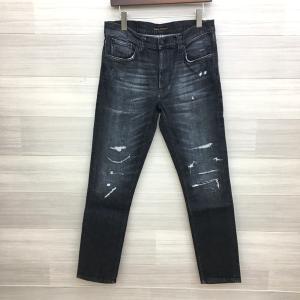 ヌーディージーンズ デニム ジーンズ ストレート ダメージ ウォッシュ メンズ W31 L30 ブラックインディゴ Nudie Jeans ズボン DM1451■ sunstep