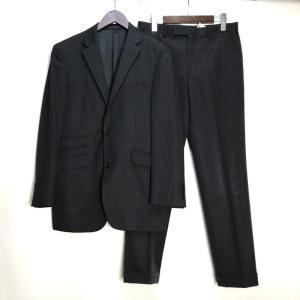 バーバリー ブラックレーベル スーツ 上下セット ジャケット パンツ 三陽商会 38R ブラック Burberry BLACK LABEL セットアップ A2948◆ sunstep