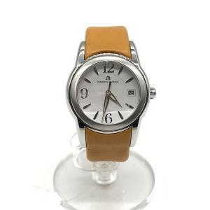 モーリスラクロア 腕時計 ウォッチ クオーツ SH1014 レディース シルバー×イエロー MauriceLacroix 服飾小物 B2953◆|sunstep