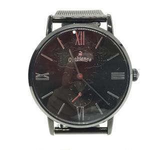 オロビアンコ 美品 腕時計 時計 クオーツ SIMPATICO OR0071-33 気圧防水 メンズ 実寸参照 ブラック OROBIANCO 時計 B3408◆|sunstep