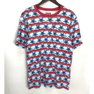 シュプリーム You're dead Top 16SS 半袖 Tシャツ スター 星 総柄 メンズ Sサイズ ブルー×レッド Supreme トップス A3870◆ sunstep