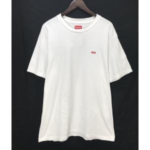 シュプリーム small box logo tee 半袖 Tシャツ ロゴ ストリート ワンポイント メンズ Lサイズ ホワイト Supreme トップス A3955◆|sunstep
