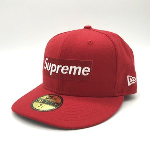 シュプリーム 16AW New Era Box Logo Cap RIP キャップ 帽子 コラボ メンズ サイズ71/4 レッド Supreme 服飾小物 B3882◆ sunstep