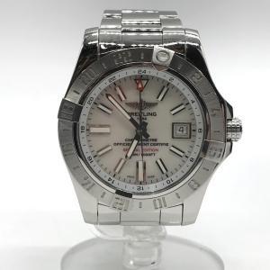 ブライトリング アベンジャーII GMT A3239011 腕時計 時計 オートマチック 箱付き メンズ シルバー BREITLING 時計 B4552◆|sunstep