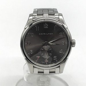 ハミルトン ジャズマスター シンライン 腕時計 クオーツ ステンレススチール H384110 箱付き メンズ シルバー HAMILTON 時計 B4442◆ sunstep