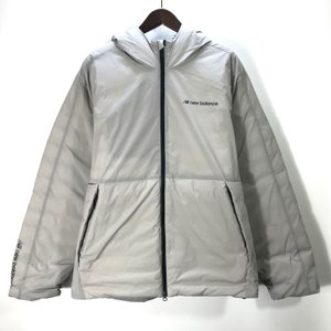 ニューバランス スポーツスタイルヒート ダウンジャケット MJ93512 ロゴ 防寒 メンズ Lサイズ ホワイト NEW BALANCE アウター A5183◆◆|sunstep
