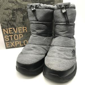 ノースフェイス ヌプシブーティー ウォータープルーフ プリント NF51973 アウトドア 箱付き メンズ 27cm グレー THE NORTH FACE 靴 B5797◆|sunstep