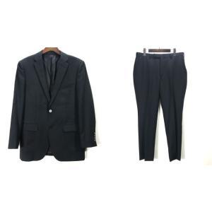 ブラックレーベル クレストブリッジ スーツ 上下セット ジャケット パンツ ウール サイズ38 BLACK LABEL CRESTBRIDGE セットアップ A6154◆ sunstep