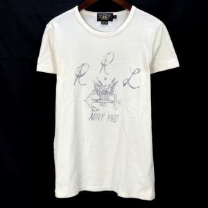 ダブルアールエル 半袖 Tシャツ カットソー 古着 ネコポス配送 メンズ XSサイズ ホワイト系 RRL Ralph Lauren トップス A6111◆ sunstep
