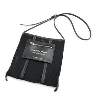 ビューティフルピープル リネンショルダーバッグ ミニバッグ セカンドバッグ 肩掛け デート お出かけ ブラック beautifulpeople 鞄 B6003◆|sunstep