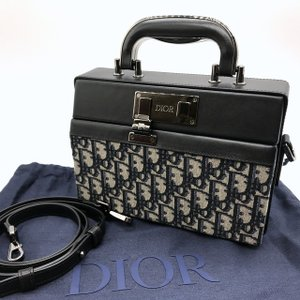 ディオール LOCK ハンドバッグ ジャカード 2Way ショルダーバッグ レザー 保存袋 プレゼント 美品 男女兼用 ブラック DIOR 鞄 B6184◆|sunstep