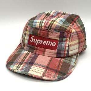 シュプリーム タータンチェックCAP ジェットキャップ キャップ BOXロゴ ストリート メンズ レッド Supreme 帽子 B6299◆|sunstep