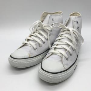 コンバース LEA ALL STAR HI レザーオールスター HI 1B907 スニーカー シューズ スター メンズ 27cm ホワイト CONVERSE 靴 B6548◆|sunstep