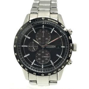 シチズン B612 腕時計 ウォッチ クロノグラフ タキメーター エコドライブ 光発電 メンズ  シルバー CITIZEN 時計 B6893◆|sunstep