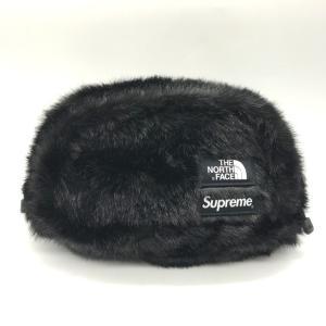 シュプリーム THE NORTH FACE Faux Fur Waist Bag 20AW NM82093I フェイクファーウエストバッグ メンズ ブラック Supreme 鞄 B7065◆|sunstep