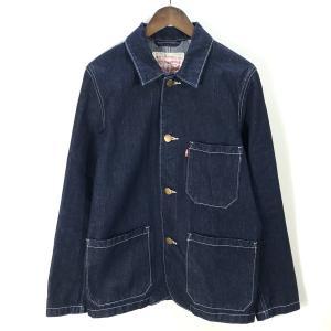 リーバイス カバーオール デニムジャケット オーバーサイズ 古着 ポケット 長袖 美品 メンズ Sサイズ インディゴ LEVIS アウター A6774◆|sunstep