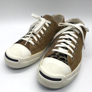 コンバース BILLY'S別注 JACK PURCELL BREND 1CL575 スニーカー シューズ レオパード ヒョウ柄 メンズ 26cm ブラウン CONVERSE 靴 B6827◆|sunstep