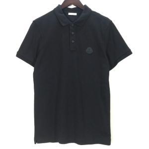 モンクレール MAGLIA POLO MANICA C 半袖 ポロシャツ ロゴパッチ 箱 タグ付き 新品同様 メンズ Sサイズ ブラック MONCLER トップス A7047◆ sunstep