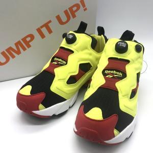 リーボック INSTAPUMP FURY V47514 スニーカー シューズ 箱付き タグ付き 新品同様 メンズ 27.5cm イエロー Reebok 靴 B6952◆|sunstep