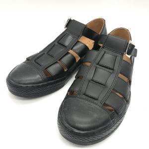 コンバース グルカサンダル 31303500 オースター レザー キレイめ CHUCK TAYLOR 夏 ビーチ メンズ 26cm ブラック CONVERSE 靴 B7296◆|sunstep