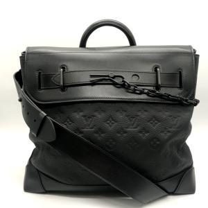 ルイヴィトン スティーマー PM トリヨンモノグラム M55701 ショルダー ハンドバッグ 箱付き 美品 メンズ ブラック LOUISVUITTON 鞄 B7433◆|sunstep