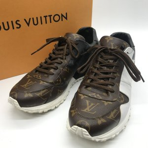 ルイヴィトン ランアウェイ ライン スニーカー モノグラム 1A3N7V シューズ 箱付き メンズ サイズ8 26.5cm相当 ブラウン ブラック LOUISVUITTON 靴 B7434◆|sunstep