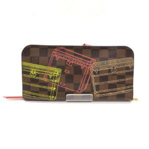 ルイヴィトン N63025 CA3164 ポルトフォイユ アンソリット 長財布 トランクプリントダミエ財布 レディース ブラウン LOUIS VUITTON 服飾品 W3859-D☆|sunstep