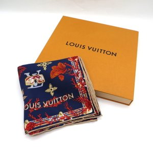 ルイヴィトン カレ ウィンター M76422 スカーフ スクエア シルク100% 20SS 贈り物 プレゼント ギフト レディース  ネイビー系 LOUIS VUITTON 服飾品 W4445D ☆|sunstep