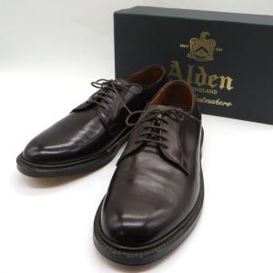オールデン 99014 プレーントゥシューズ ビジネスシューズ 革靴 紳士付く 箱あり  贈り物 プレゼント メンズ 8.5D 26.5cm相当 ワインレッド Olden 靴 W4533D☆☆|sunstep