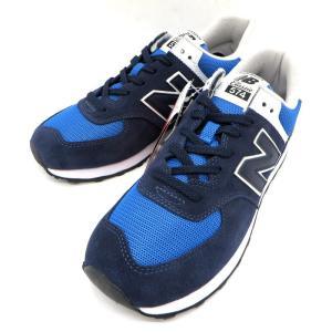 ニューバランス ML574SSM スニーカー シューズ タグ付き マラソン ランニング ウォーキング NB 青 28.5cm ブルー newbalance 靴 W4705☆|sunstep