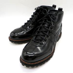 オニツカタイガー リンカン ブーツ 1183A748 エナメル 黒 ハイカット RINKAN BOOT メンズ 25.5cm ブラック ONITSUKA TIGER 靴 W4723☆|sunstep