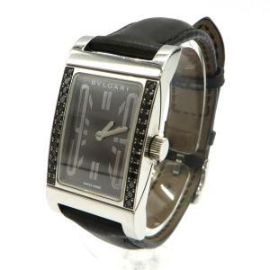 ブルガリ RT39S 腕時計 Rettangolo レッタンゴロ ブラックダイヤベゼル クォーツ アナログ  レディース   BVLGARI 時計 W5269☆|sunstep