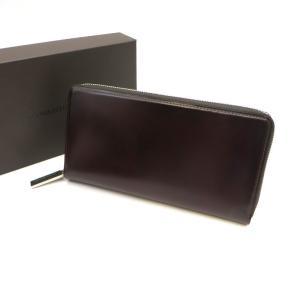 ココマイスター キングフィッシャー コードバン ジッピーウォレット 長財布 美品 箱 保存袋 ラウンドファスナー ボルドー COCOMEISTER 財布 W5459☆|sunstep