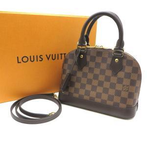 ルイヴィトン N41221 アルマBB ハンドバッグ ショルダーバッグ 2way ダミエキャンバス ダミエエベヌ ミニバッグ Louis Vuitton 鞄  W5462☆|sunstep