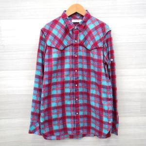 ノンネイティブ シャツ ネルシャツ チェック 長袖 美品 メンズ サイズ1 NN-S2712 レッド ブルー系 nonnative トップス E11743-4● sunstep