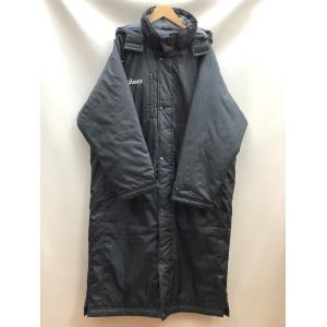 アシックス ベンチコート XGW303 スポーツ ロングコート 防寒 フード 取外可能 メンズ Mサイズ ブラック adidas アウター E0982E0★|sunstep