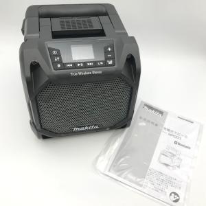 マキタ 充電式スピーカ MR203B Bluetooth スピーカー 本体 取扱説明書 美品 アウトドア 外仕事 ブラック makita 工具 E1356★ sunstep
