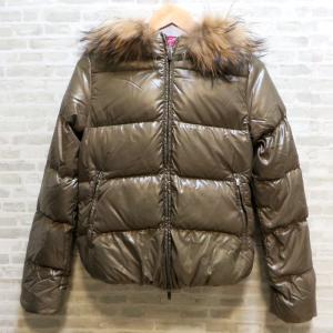 デュベティカ ダウンジャケット ダウン ブルガリア製 アウター サイズ38 ブルゾン 冬物 レディース Sサイズ ブラウン DUVETICA 衣類 W4118-D☆|sunstep