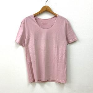 インフルエンス Tシャツ トップス カットソー クルーネック U首 無地 半袖 メンズ 送料220円 Lサイズ ピンク Influence 衣類 N14978-T4●|sunstep