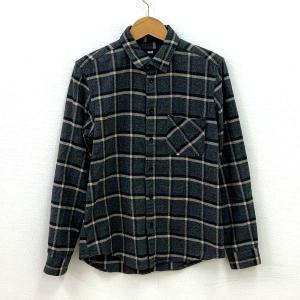 ハレ シャツ トップス チェック 長袖 カジュアル メンズ Sサイズ グレー HARE 衣類 N15156-T15●|sunstep