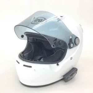 Arai GP-5X フルフェイスヘルメット インカム付 除菌消臭済 PSC有 59-60cm 2005年製 希少  Lサイズ ホワイト アライ バイク用品 N15471H● sunstep