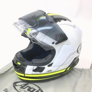 Arai ASTRAL-X STINT フルフェイスヘルメット 新品同様 除菌消臭済み プロシェード付 PSC有 Lサイズ 59-60cm イエロー アライ バイク用品 N15528H● sunstep