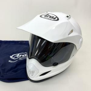 Arai ツアークロス ヘルメット 内装洗濯 除菌消臭済み オフロード モトクロス 2006年製 PSCあり 男女兼用 Mサイズ 57-58cm ホワイト アライ バイク用品N15534H● sunstep