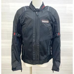 KOMINE エアストリームメッシュジャケット 07-030 ライディングジャケット バイクジャケット メンズ Lサイズ ブラック コミネ バイクウェア N15544●|sunstep