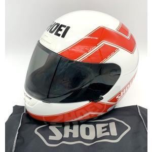 ショウエイ X-8 エディーローソンレプリカ フルフェイスヘルメット 除菌消臭済み 91年製 内装劣化  Lサイズ 59cm ホワイト レッド SHOEI バイク用品 N15720H●|sunstep