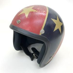 SHOEI D-3 REBEL FLAG Stars&Stripes ビンテージヘルメット 1970年 星条旗 オリジナル 除菌消臭 Mサイズ相当 58cm前後 レッド ネイビー 観賞用 15724H●|sunstep