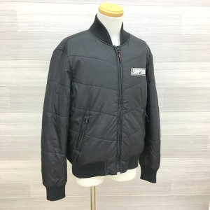 シンプソン ブルゾン アウター ジャケット バイカー バイクウェア 防風防寒 メンズ Lサイズ ブラック SIMPSON ジャンパー N16035●|sunstep